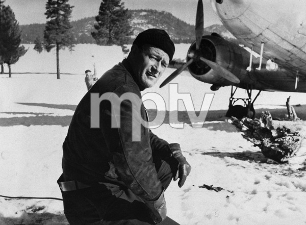 "John Wayne on location in the High Sierras for ""Island in the Sky"" 1953 Warner Brothers - Image 0898_0007"
