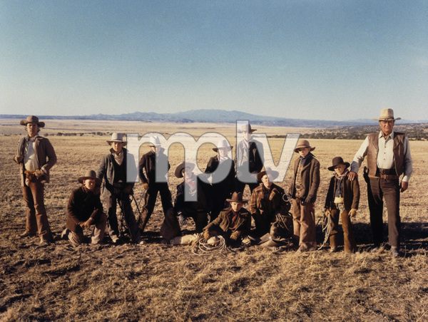 """John Wayne with cast of """"The Cowboys"""" 1972 Warner Brothers - Image 0898_0204"""