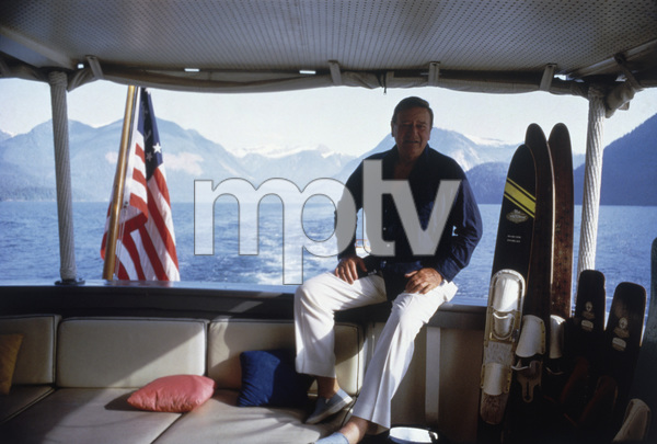 "John Wayne vacationing on his yacht ""Wild Goose"" 1971 © 1978 David Sutton - Image 0898_0881"