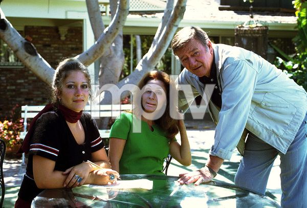 John Wayne with his daughter, Aissa, and his wife, Pilar, at home, 1972. © 1978 David Sutton - Image 0898_0906
