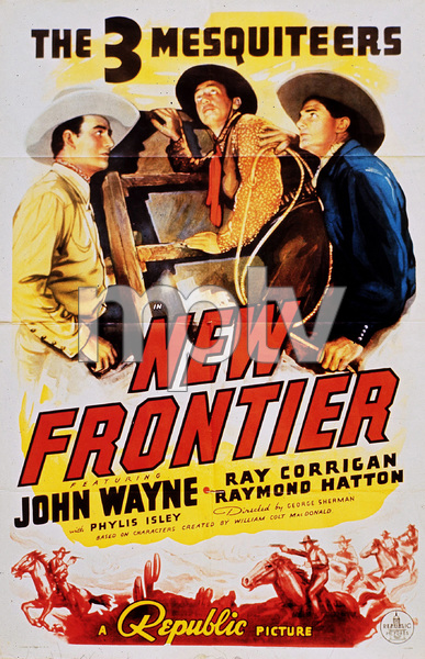 "John Wayne in ""The New Frontier,"" Republic 1935.Poster - Image 0898_1139"