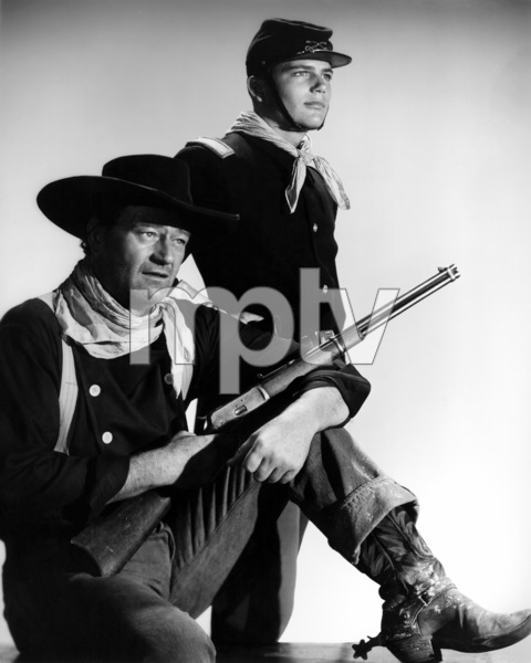 "John Wayne and his son, Patrick, in ""The Searchers."" 1956 Warner Bros. - Image 0898_2023"
