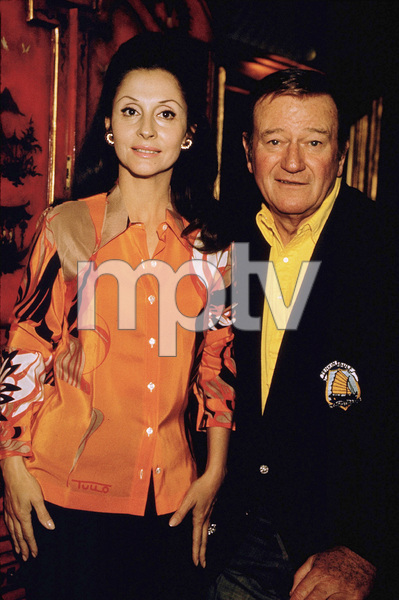 John Wayne and his wife, Pilar, 1970. © 1978 David Sutton - Image 0898_3159