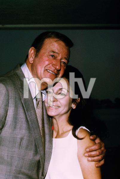 John Wayne and his wife, Pilar, at home, 1970. © 1978 David Sutton - Image 0898_3255