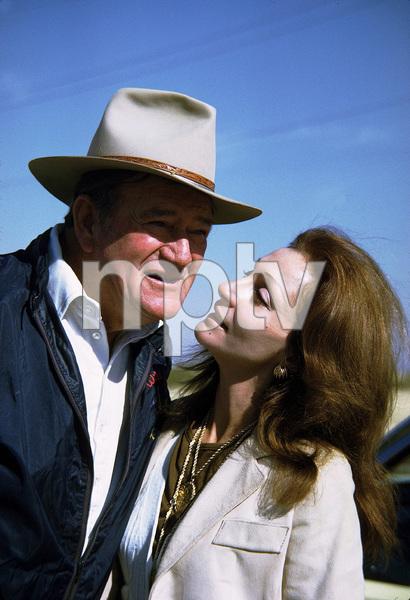 John Wayne and his wife, Pilar, 1971. © 1978 David  Sutton - Image 0898_3279