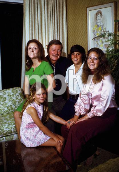 John, Pilar, Marisa, Ethan, and Aissa Wayne at home, 1972. © 1978 David Sutton - Image 0898_3283