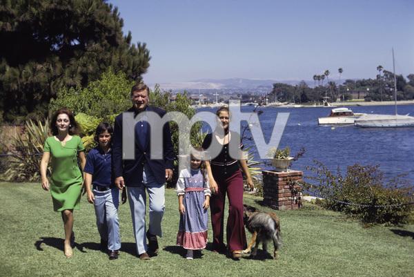 John, Pilar, Ethan, Marisa and Aissa Wayne at home1972 © 1978 David Sutton - Image 0898_3298