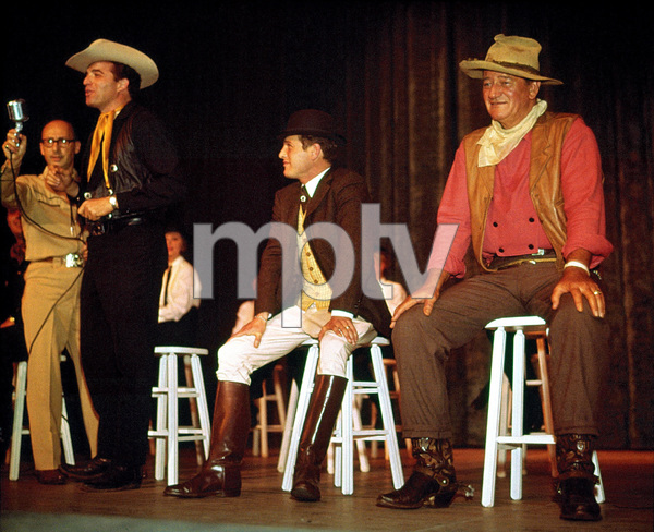 John Wayne, Sammy Cahn, Vince Edwards, and Paul Newman, circa 1962. © 1978 David Sutton - Image 0898_3346