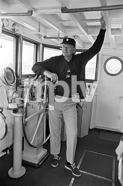 John Wayne aboard his yacht Wild Goosecirca 1966 © 1978 Gunther - Image 0898_3387