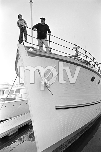 John Wayne aboard his yacht Wild Goose with his son Ethancirca 1966 © 1978 Gunther - Image 0898_3391
