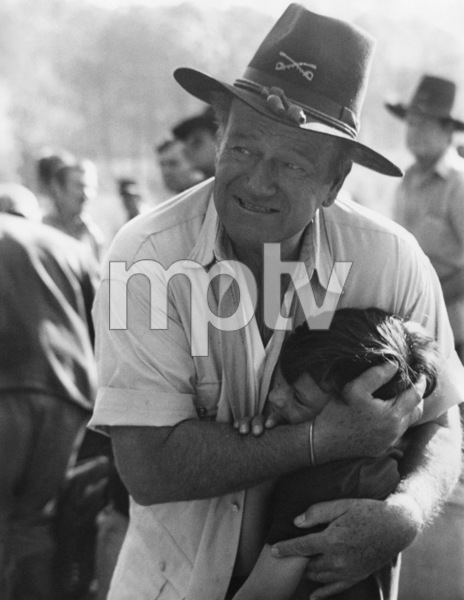 "John Wayne and his son, Ethan, during the making of ""Rio Lobo""1970© 1978 David Sutton - Image 0898_3463"