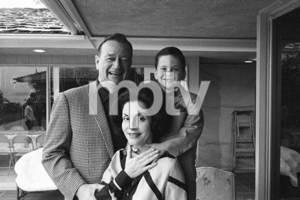 John Wayne with his wife, Pilar, and their son, Ethan1966© 1978 Bernie Abramson - Image 0898_3465