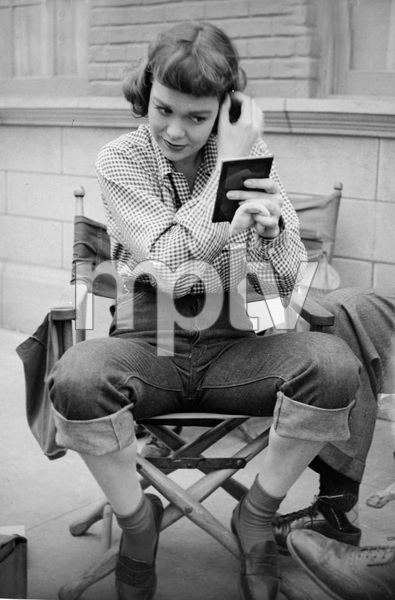 """Jane Wymanon the set of """"A Kiss in the Dark""""1949 Warner Brothers - Image 0907_0046"""