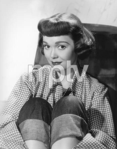 """Jane Wymanon the set of """"A Kiss in the Dark""""1949 Warner BrothersPhoto by Bert Six - Image 0907_0047"""