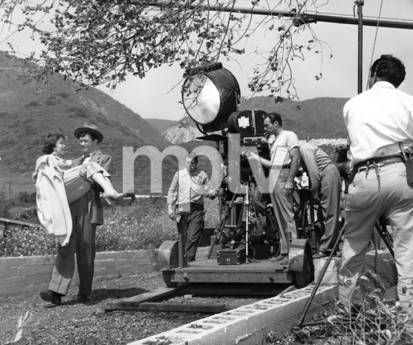 """Jane Wyman and Dennis Morgan during the making of """"The Lady Takes a Sailor""""1949Photo by Bert Six - Image 0907_0094"""