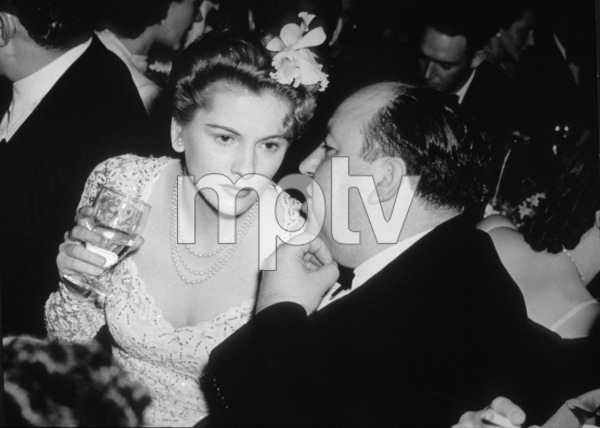 Joan Fontaine and Alfred Hitchcock,c. 1941.**I.V. - Image 0922_0703