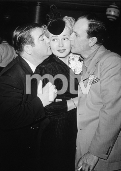 Lana Turner and Abbott and Costello, c. 1948.**I.V. - Image 0954_0650