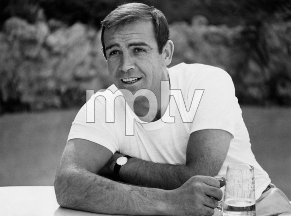 Sean Connery with beer mug1964 © 1978 Bob Willoughby - Image 0955_0692
