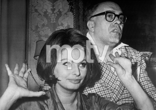 Sophia Loren and husband Carlo Ponti, c. 1969. - Image 0959_2101