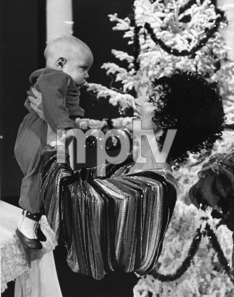 """Cher Bono with son Elijah Allman on """"The Sonny and Cher Show""""1976Photo by Gabi Rona - Image 0967_0185"""