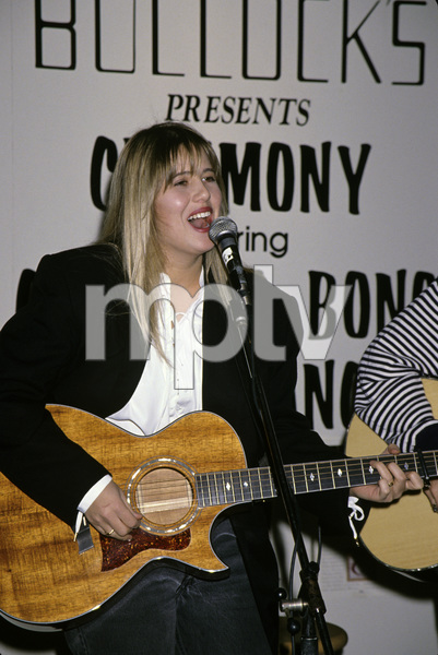 Chastity Bono performing at the Promenade Mall for the grand opening of Bullocks1993 © 1993 Gary Lewis - Image 0967_0255