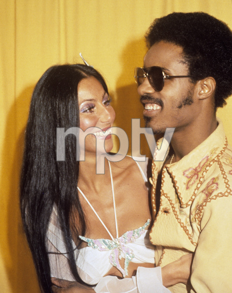 "Cher Bono and Stevie Wonder at ""The 16th Annual Grammy Awards""1974© 1978 Gary Lewis - Image 0967_0273"