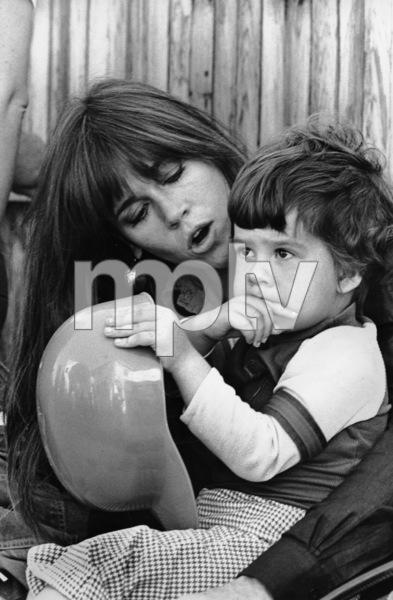 Jane Fondawith son Troy Garity in Santa Monica California1976 © 1978 Ulvis Alberts - Image 0968_1129