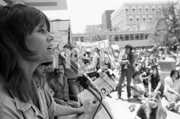 Jane Fonda at an anti-war rallycirca 1973 © 1978 Gunther - Image 0968_1153