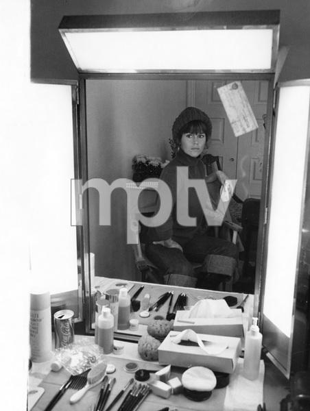 Jane Fonda reflected in dressing table mirror, 1970s, I.V. - Image 0968_1167