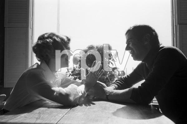 Jane Fonda at home with husband Roger Vadim1969 © 1978 Bruce McBroom - Image 0968_1169