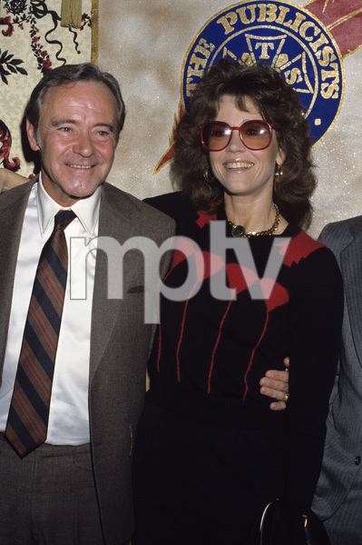 """Jane Fonda and Jack Lemmon at """"The 19th Annual Publicists Guild of America Awards"""" 1982 © 1982 Gary Lewis - Image 0968_1177"""