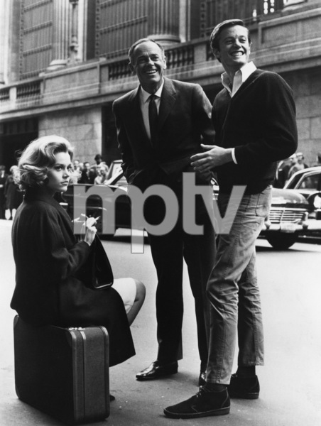 "Jane Fonda with father Henry and brother Peter on the set of ""Sunday in New York""1963** I.V. - Image 0968_1204"