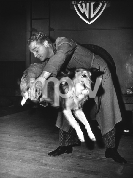 James CagneyPerforming a Dog Trick1951Photo By Mac Julian - Image 0969_0009