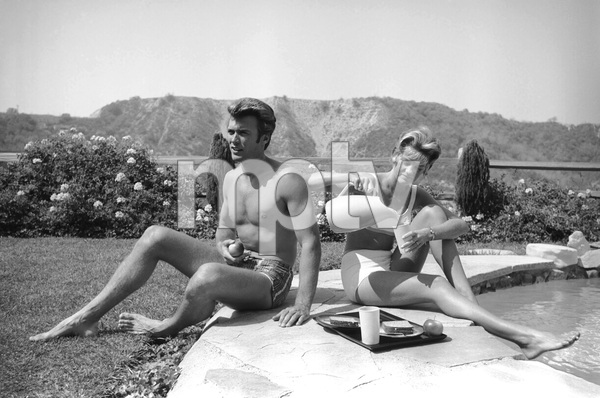 Clint Eastwood and wife Maggie Johnson at home1961© 2005 Michael Levin - Image 0973_0853