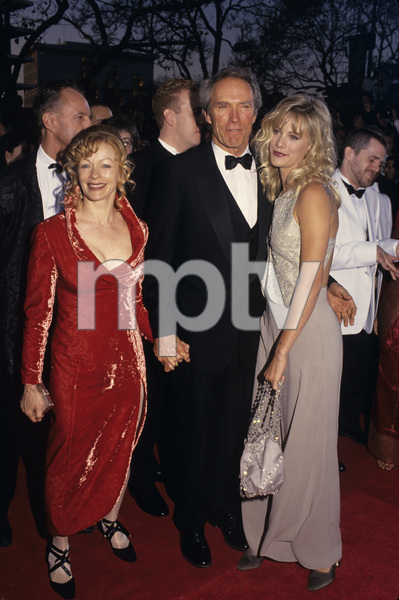 """Clint Eastwood with Frances Fisher and Alison Eastwood at """"The 66th Annual Academy Awards""""1994© 1994 Gary Lewis - Image 0973_0927"""