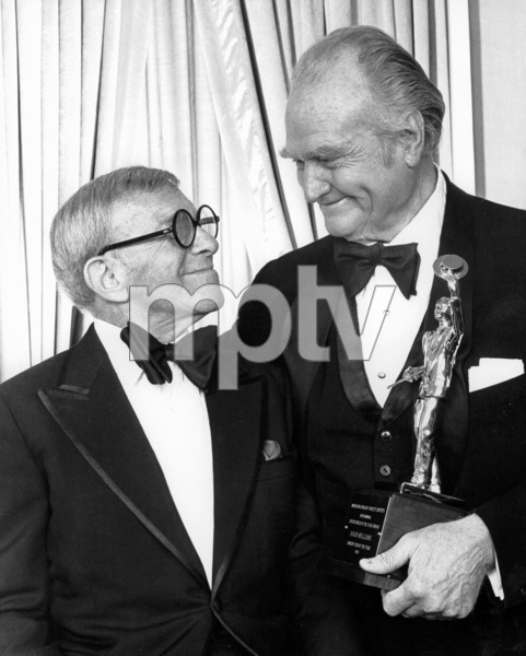 George Burns and Red Skelton at the10th Annual of American Guild of Variety Artists Awards, 1979.Photo by Gabi Rona - Image 1001_0617