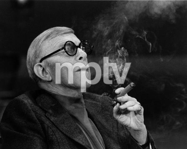 "George Burns, on the ""Dinah""talk show, c. 1976.Photo by Gabi Rona - Image 1001_0625"