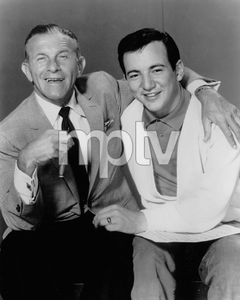 """ The George Burns show,""George Burns with guest Bobby Darin.c. 1958. - Image 1001_0664"