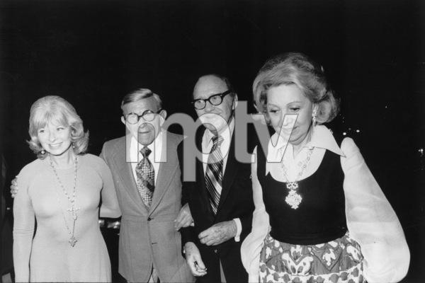 George Burns with Jack Benny, c. 1973. © 1978 Gunther - Image 1001_0676