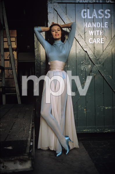 """Cyd Charisse behind the scenes on """"Silk Stockings""""1957 © 2001 Mark Shaw - Image 1003_0066"""