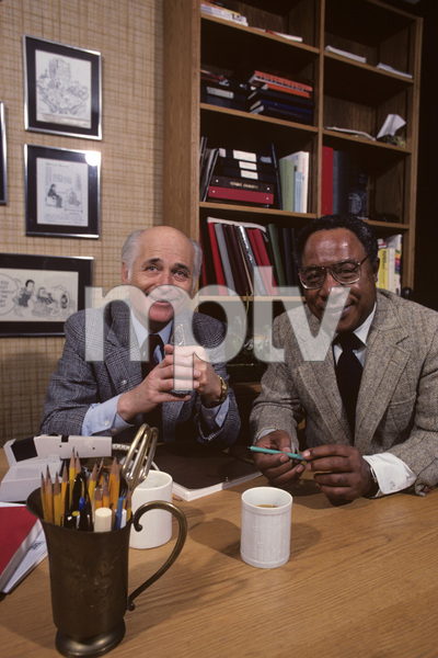 Norman Lear and Alex Haley in his office1979© 1979 Gene Trindl - Image 10393_0004