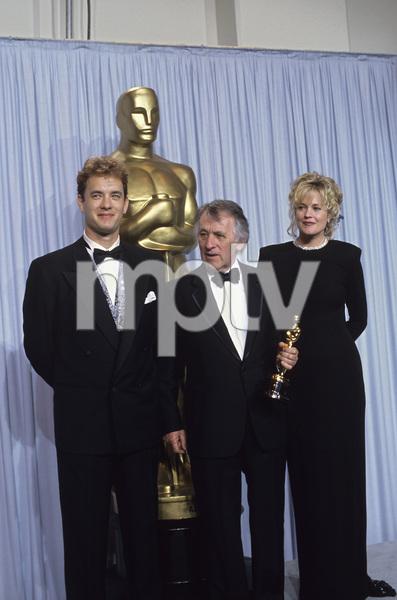 """Academy Awards: 62nd Annual""Tom Hanks, Freddie Francis, Melanie Griffith1990 © 1990 Gunther - Image 10550_0003"
