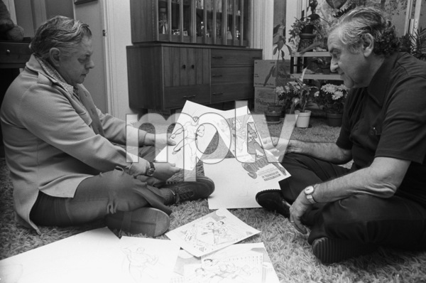 Jerry Siegel and Joe Shuster (creators of Superman character for the original comics)1979 © 1979 Ulvis Alberts - Image 10674_0012