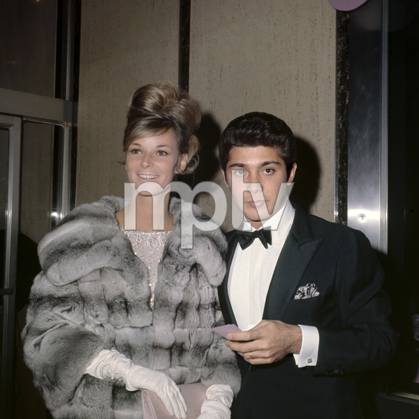 """Anne de Zogheb and Paul Anka at the New York premiere of """"My Fair Lady"""" October 21, 1964Photo by Irv Steinberg** B.D.M. - Image 10706_0034"""