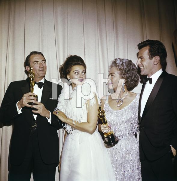 """The 35th Annual Academy Awards""Gregory Peck, Sophia Loren, Joan Crawford 1963 © 1978 David Sutton - Image 10724_0004"
