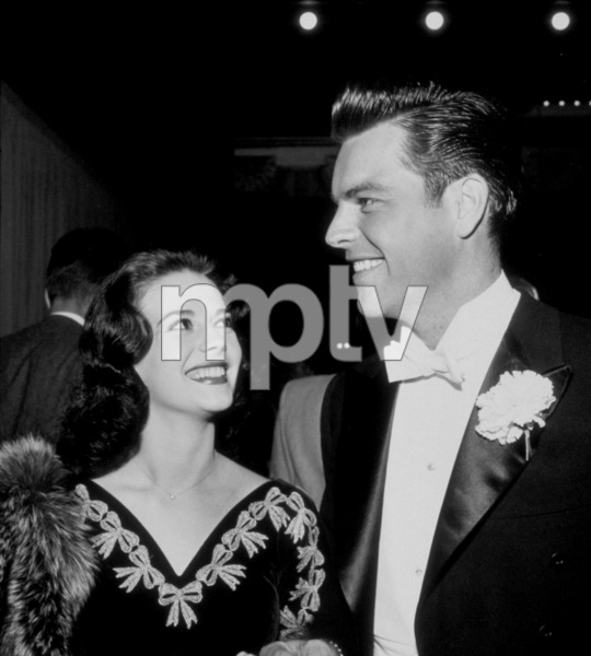 """Academy Awards: 30th Annual,""Natalie Wood and Robert Wagner.1958. © 1978 Bernie Abramson - Image 10764_0002"