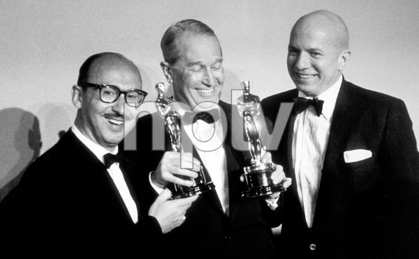 """Academy Awards: 30th Annual,"" Sammy Cahn, Maurice Chevalier, James Van Heusen. 1958. © 1978 Sid Avery - Image 10764_0007"