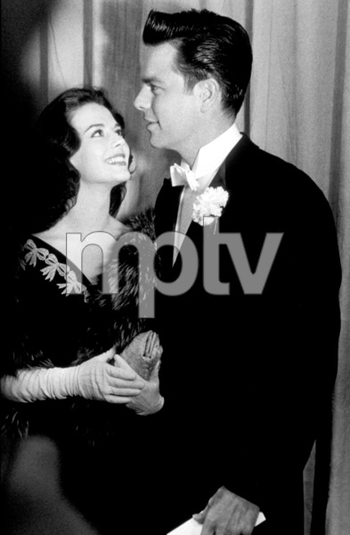 """""""Academy Awards: 30th Annual,"""" Natalie Wood, Robert Wagner. 1958. © 1978 Sid Avery - Image 10764_0010"""