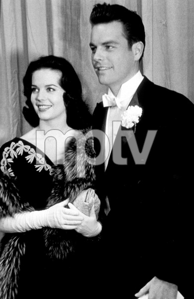"""""""Academy Awards: 30th Annual,"""" Natalie Wood, Robert Wagner. 1958. © 1978 Sid Avery - Image 10764_0015"""