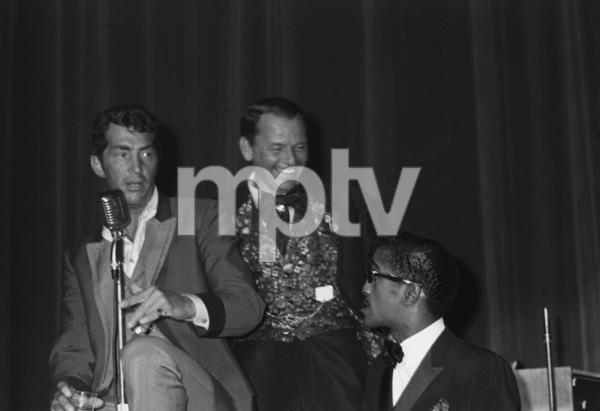 Frank Sinatra, Dean Martin and Sammy Davis Jr. at a Share Party1963 © 1978 Chester Maydole - Image 11078_0008